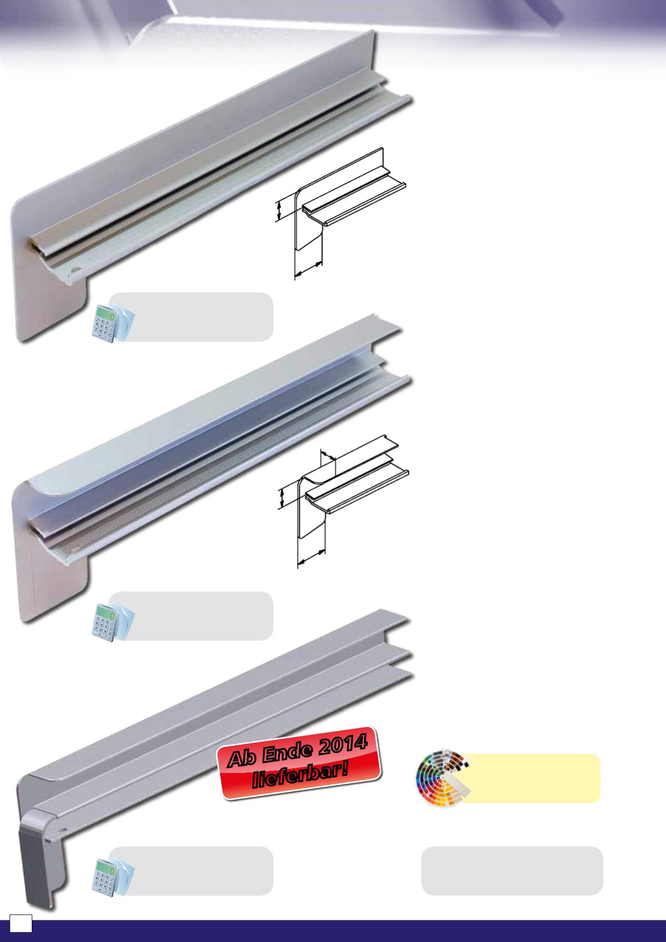 Aluminium-Fensterbänke und Zubehör